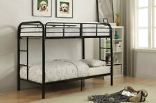 Acme Furniture - Twin-Over-Twin Bunk Bed with Metal Frame and Ladder, Black