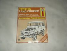 Toyota Land Cruiser Repair Manual 1968-1982