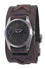 Nemesis Show Girl Watch, Faded Brown Leather Band, BSFXB109B