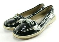 Sperry Top-Sider Angelfish $90 Women's Boat Shoes Size 9 Patent Leather Black