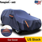 Heavy Duty Waterproof Full Car Cover Universal SUV Fits AlWl Protection Blue US