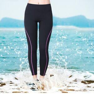 Women Neoprene Wetsuit Pants Swimming Diving Trouser Surfing Long Pant Leggings