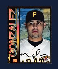 Mike Gonzalez signed Pittsburgh Pirates team issued baseball postcard