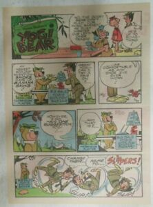 (20) Yogi Bear Sunday Pages by Hanna-Barbera from1979 Tabloid Page Size !