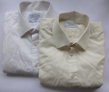"""2x Charles Tyrwhitt Classic Poplin Shirts, White & Cream (Size 15.5"""" / 35"""")"""