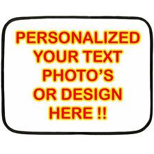 New Personalized Custom Your Logo Design Photo Text Mini Fleece Blanket