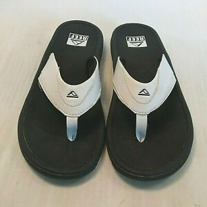 Reef Fanning Mens Size 11 White Casual Walking Flip Flop Slipper Thong Sandals