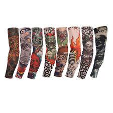 8pcs Tattoo Sleeve Mix Nylon Stretchy Temporary Sleeves Fashion Arm Stocking