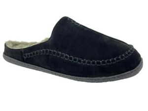 Clarks Mens Comfort Slipper Sherpa Lined Indoor Outdoor Leather House Slippers