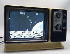 "Zenith Space Age B&W TV J092X 9"" Vintage CRT Retro 1977 Cream Almond Works"