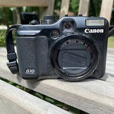 Canon PowerShot G10 14.7MP Black Digital Camera  With Battery No Charger