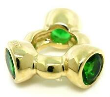 Aura Green 9K 9ct 375 Solid Gold Bead Charm FITS EURO BRACELETS 30 Day Return