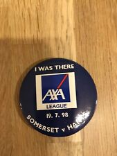 Somerset v Hampshire 19/07/98 Pin Badge