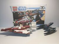 LEGO 7751 STAR WARS AHSOKA TANO STARFIGHTER/VULTURE DROID CLONE WARS COMPLETE