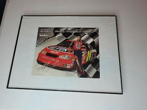 🚙🚖🚘 Jeff Gordon Signed Autograpghed Glass Framed 8x10 Photo in 12x16 🚘🚖🚙