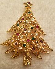 Beautiful vintage to now Christmas tree rhinestone brooch/pin, lot 14