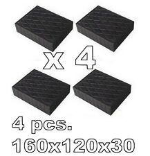 Universal Scissor Lift Pads H30 mm. Ramp Rubber Blocks Made in Italy REAL RUBBER