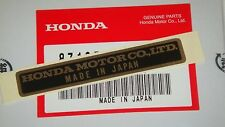 Genuine Honda ST50 ST70 TL125 CA CT MR175 SS125 CB450 XL350 NAME PLATE Sticker