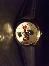 Womens Vintage Disney Time Works Minnie Mouse Watch (Cheerleader)(Pom-Pom)HF-New
