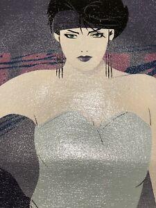 Original Art 80's Patrick Angel Style Painting By S. Stevenson