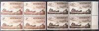 1955 Australian Pre Decimal Stamps:Pioneers of Coaching - Set of 2x4 MNH