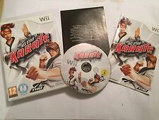 ORIGINAL NINTENDO Wii GAME ALL STAR KARATE +BOX & INSTRUCTIONS TESTED GWO PAL