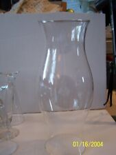 """Hurricane Clear Glass Chimney Shade for Lamps Lights Candle Holders 14"""" Tall"""