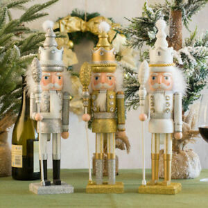 42cm Wooden Christmas Nutcracker Soldiers Doll Toy Xmas Party Home Ornament Gift