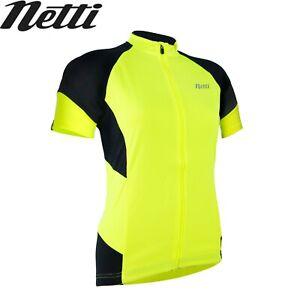 Netti Cruze Plus Womens High-Visibility Cycling Jersey - Fluro Yellow