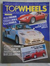 Top Wheels Jan/Feb 1987 Magnum Ferrari 246GT replica, Audi Quattro Treser