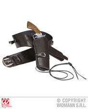 Brown Holster Belt Cowboy Wild West Fancy Dress Accessory
