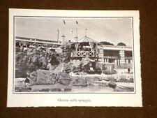 Genova nel 1908 Il Lido di Albaro Chiosco sulla spiaggia