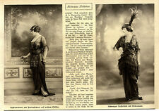 Schwarze Toiletten Mode-Fotographie zur Kaiserzeit von 1913