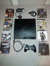 Slim 320gb Playstation 3 ps3 Konsole 1 Controller & 8 Spiele gebraucht