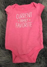 """Target Circo """"Current Family Favorite"""" BodySuit One Piece Top 0-3 Months Funny"""