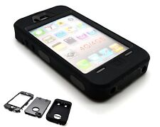 New Heavy Duty Builders Workman Full Black Colour Armour Case for iPhone 4 , 4s