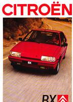 1988 Citroen BX 8-page French Original Sales Brochure Catalog