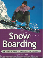 SNOW BOARDING Snowboarding BOARD Snowboard GUIDE How To BOOK Tricks SLOPESTYLE