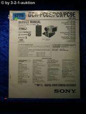 Sony Service Manual DCR PC6E /PC9E /PC9 Level 2 Digital Video Camera (#5775)