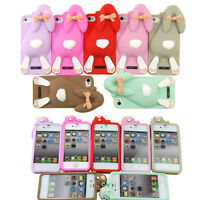 New 3D Cute Cartoon Animals Soft Silicone Case Cover Back Skin for iPhone 4 4S G