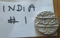 India Silver Rupee Princely State Hammered Coinage  Old # 1
