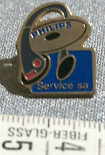 Vintage PHILIPS Pin Badge Headphones CD PHILIPS SERVICE sa