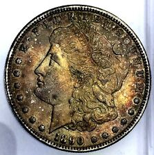 1890-S $1 Morgan Silver Dollar San Francisco Mint Toned Liberty Coin 317-3DUo