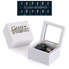 WHITE WOOD HANDCRAFT GAME OF THRONES MUSIC BOX ♫  WINTER IS COMING  ♫
