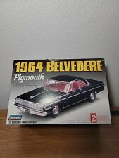 1964 Plymouth Belvedere Lindberg Model Kit  1/25 Black NOB