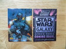 1995 TOPPS STAR WARS GALAXY III PROMO CARD UNNUMBERED BOBA FETT FROM FACTORY SET
