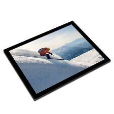 A3 Glass Frame - Freeride Skiing Mountains Ski Snow Art Gift #21553
