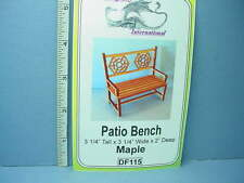 Dollhouse Miniature Patio Bench Kit - Maple - #Df115 Dragonfly Int'L 1/12th