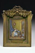 Miniature Portrait Painting LA CONSOLATION de L'ABSENCE d'apre's Lavreince