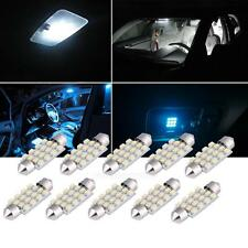 10Pcs 42mm 16SMD Car LED Festoon Dome Map Interior Cargo Light Bulbs White